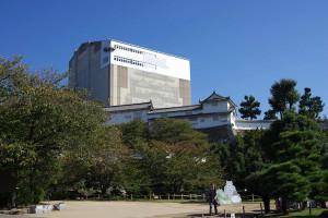 改修中の姫路城本丸
