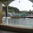 フェリーから見た桜島の船着場