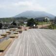 桜島の足湯