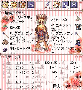 Str>Agi>Dex槍騎士